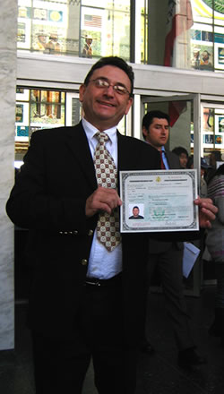 Dad with his citizenship certificate