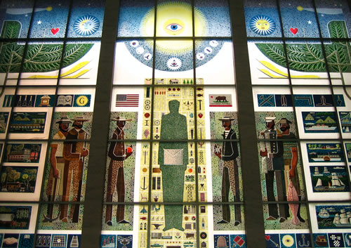 Masonic Center's stained glass