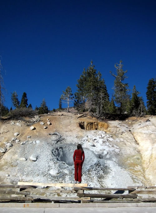 Sabine in Red at Lassen